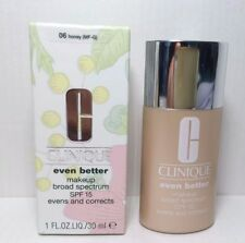 Clinique Even Better Makeup Spf 15 Foundation 1.0 oz Full Size 06 Honey