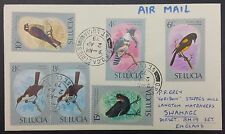 St Lucia - 6x Birds Issues on Air Mail Cover, GPO Castries PMK To Swanage, GB