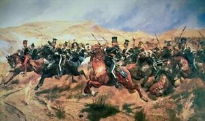 Charge of the Light Brigade Crimean War by Woodville 7x4 Inch Print