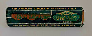 Vintage REDCAR STATION STEAM TRAIN WHISTLE Sounds Like The Real Thing THREE TONE