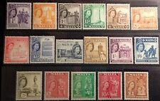 MALTA 1956 DEFINITIVE SET SG266/282 UNMOUNTED MINT .CAT £130