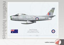 Warhead Illustrated CA-27 Sabre 77 Sqn RAAF A94-982 Aircraft Print