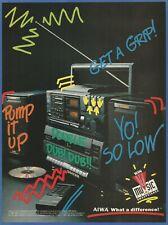 AIWA Portable Stereo Hi-Fi System - 1989 Vintage Print Ad