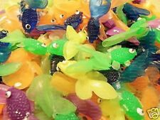 "144 2"" Vinyl Assorted Color Plastic Fish Toys Wholesale Soap Making Party Favors"