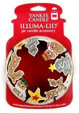 Illuma Lid Yankee Candle Ginger Cookie Jar Topper Stars Snowmen Reindeer Trees