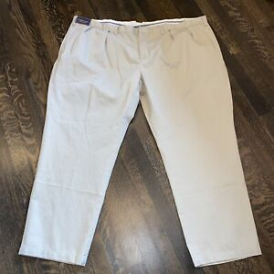 NWT POLO Ralph Lauren Pants Mens BIG 54 32 Tan CLASSIC PLEATED FIT Khaki NEW