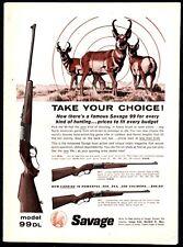 1962 SAVAGE Model 99  99-DL, 99-F, 99-E Rifle AD w/ Pronghorn
