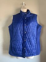 Women's Great Northwest Indigo Quilted Vest, Blue, Large