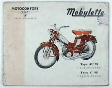Catalogue vers 1970  MOTOCONFORT - MOBYLETTE Type AU 98 - C 98