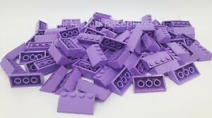 LEGO 100 x LAVENDER Roof Tiles 2 x 4 Pin Slope 45° Item Number 3037# Brand New