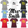 Personalised Mrs T-Shirt Wedding Engagement Future Gift Bride To Be Tee Hen Part