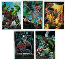 1992 MARVEL MASTERPIECES DYNA-ETCH FOIL BATTLE SPECTRA 5 CARD INSERT CHASE SET