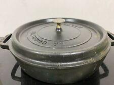 Vintage STAUB Cocotte Cast Iron Dutch Oven France Pot Stockpot 4QT