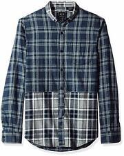 Armani Exchange Men's Double Plaid Flannel Long Sleeve Shirt, Size XL, MSRP $79