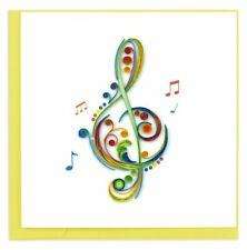 Quilling Card 3-D Greeting Card - TREBLE CLEF - QUL-1151