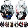 New Tokyo Ghoul Kaneki Ken 3D Sweatshirt Hoodie Men Women Pullover Cosplay Coat
