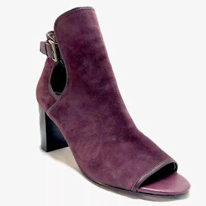 Donald J Pliner Heel Boots Booties Red Suede Women's 10