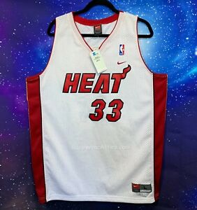 VTG Nike Alonzo Mourning Jersey NEW Miami Heat RARE 90 NBA Sz L Swingman