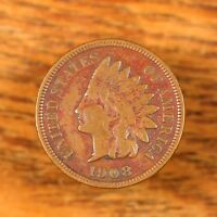 Raw 1908-S Indian Head 1C San Francisco Mint Circ Copper Coin Nice Bold Liberty
