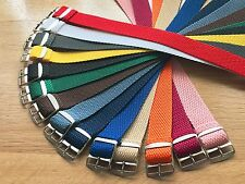 Perlon Watch Straps 20mm Braided Stainless Steel Buckle Fathers Day Gift