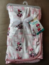 "Disney Baby Minnie Mouse Super Soft Fleece Baby Blanket-30""X30""-New"