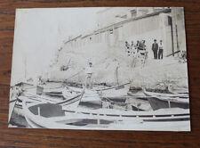 Photographie ancienne 1905 Marseillais Calanque Malmousques Marseille barques