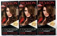 (3) Revlon Colorsilk Buttercream Hair Color 63 54G Light Golden Brown All In One