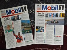 COLLECTION OF 2 x MOBIL 1 F1 GRAND PRIX 1988 NEWSLETTERS - JAPAN & AUSTRALIA