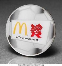 OLYMPIC PIN BADGE 2012 LONDON ENGLAND UK MCDONALDS SPONSOR SOCCER FOOTBALL