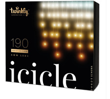 Twinkly Generation II Smart App Controlled Icicle 190 LEDs Gold Edition(REDUCED)