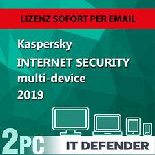 Kaspersky Internet Security 2019 2PC / Geräte 1Jahr Vollversion Key/ auch f.2018