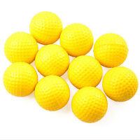 10Pcs Yellow Plastic Elastic Golf Practice Training Balls Training Aid Vbfrt IY