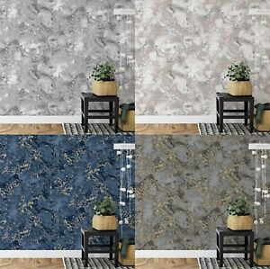 Metallic Ripple Liquid Marble Swirl Silver Rose Gold Blue Charcoal Wallpaper
