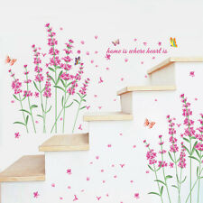 Flower Butterfly Home Quotes Decals Removable Window Vinyl Sticker Kids Decor