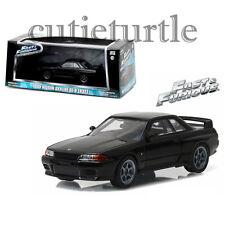 Greenlight Fast & Furious 1989 Nissan Skyline GT-R R32 1:43 Diecast 86229 Black