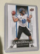 Jimmy Garoppolo Rookie Card 2014 Upper Deck 15 San Fransisco 49ers