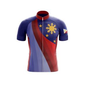 Retro Philippines Flag Novelty Cycling Jersey cycling Short Sleeve jerseys