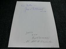 NASA JESCO VON PUTTKAMMER signed Autogramm auf 19x24 cm Zettel InPerson LOOK