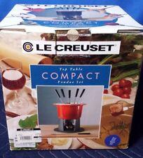 Le Creuset 2 QT Blue Compact Table Top Fondue Set With 6 Forks [SG]