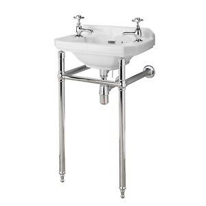 Hudson Reed Richmond Luxury Washstand, 500-560mm Basins, Chrome