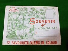 Post Card Souvenir Of Gundagai Nsw Australia 12 Fold Out Photo Pictures