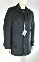 Cappotto Uomo ENRICO COVERI Giaccone Made in Italy Grigio Scuro D684 Tg 52