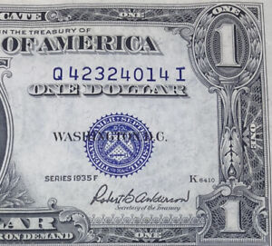 1935 ONE DOLLAR SILVER CERTIFICATE CRISP AND CLEAN UNCIRCULATED