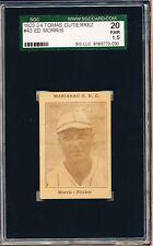 1923-24 Tomas Gutierrez Ed Morris SGC 20 = PSA 1.5 Negro League card!