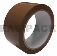 72 x INDUSTRIAL Rolls Of BROWN / BUFF Parcel Tape Packing Packaging 48mm x 66m