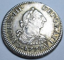 1774 SPANISH SILVER 1 REALES PIRATE SHIPWRECK TREASURE SPAIN 1 PIECE OF 8 REAL