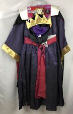 Disney Villains 4pc Maleficent Girls Halloween Costume Size 9/10 New