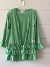 Ruffle Girl Cardigan Green Girl's Size 12. Ruffles Long Sleeve