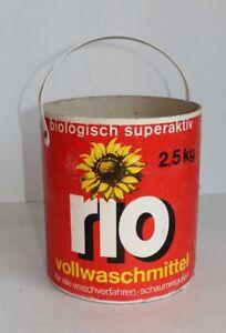 Alte Rio-Waschmittel-Verpackung / Trommel