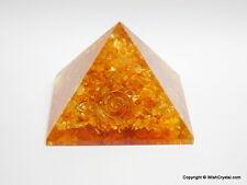 Halo Citrine Orgone Pyramid Aura Energy Meditation Healing Energy Pyramid
